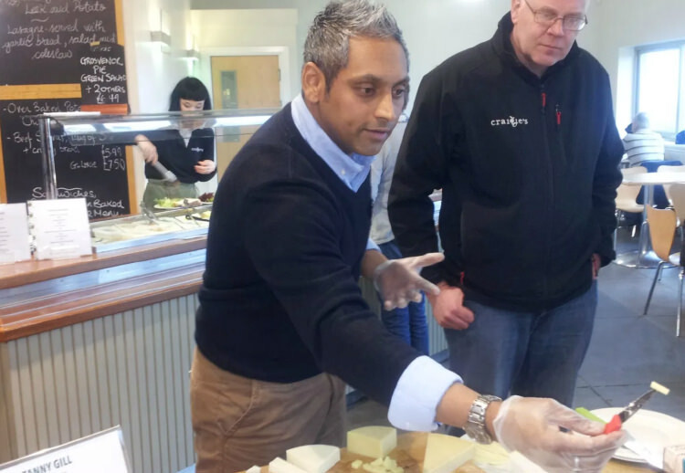 Scottish Cheese tasting at Craigies Farm Shop